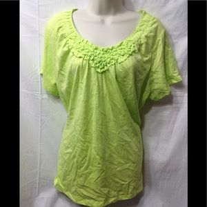 Women's size 2X ST JOHN'S BAY scoop neck blouse